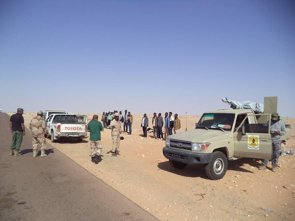 ضبط مهاجرين تسللوا براً إلى ليبيا - ارشيفية