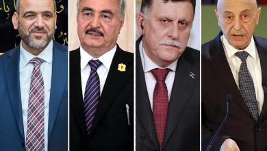 عقية صالح - فايز السراج - خليفة حفتر - خالد المشري