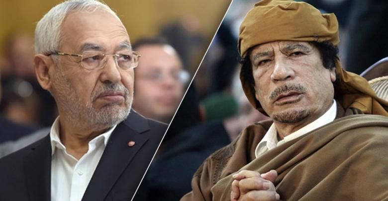 معمر القذافي و راشد الغنودي