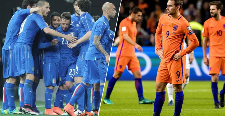 منتخب هولندا ومنتخب إيطاليا