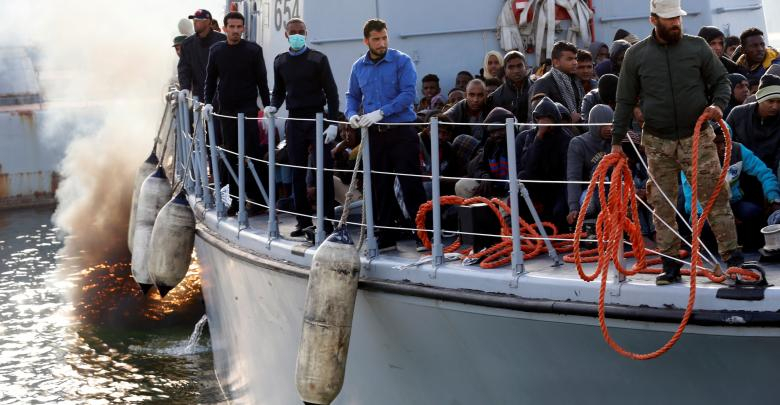 نتيجة بحث الصور عن البحرية تُنقذ مهاجرين قبالة شواطئ جنزور