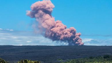 صورة الحمم البركانية تفتك بمنازل في هاواي