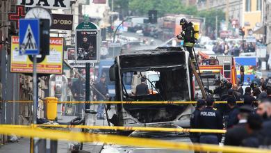 انفجار حافلة وسط روما