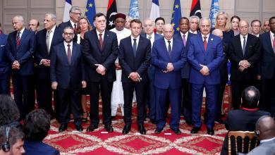 القادة الليبيين المشاركين في مؤتمر باريس