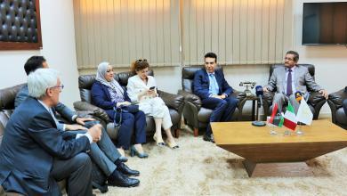 استقبال بلدية بنغازي السفير الإيطالي لدى ليبيا جوزيبي بيروني