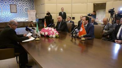 اجتماع وزارء خارجية الجزائر وتونس ومصر