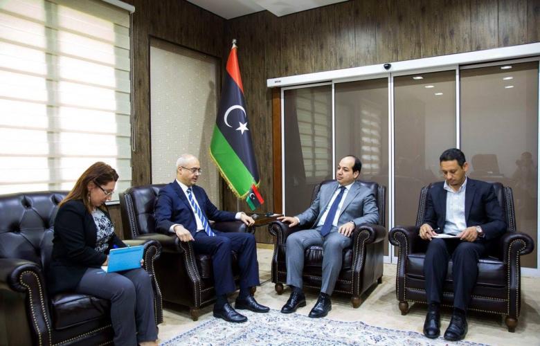 اجتماع مع نائب المجلس الرئاسي والسفير التركي