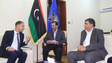 العميد عبدالسلام عاشور والسفير الألماني لدى ليبيا كرستيان بوك