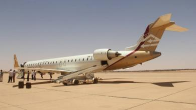 طائرة الخطوط الجوية الليبية