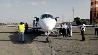 طائرات الإسعاف الطائر التابعة لجهاز الإسعاف والطوارئ بمطار معيتيقة