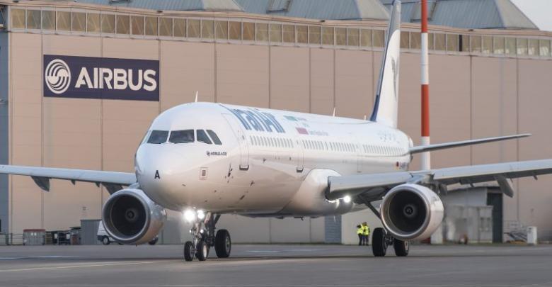طائرات بوينغ وإيرباص من الخطوط الإيرانية
