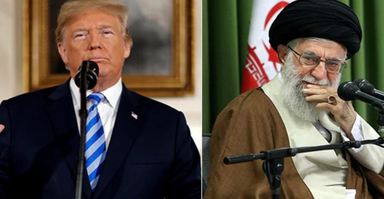 الزعيم الإيراني آية الله خامنئي و الرئيس الأمريكي دونالد ترامب