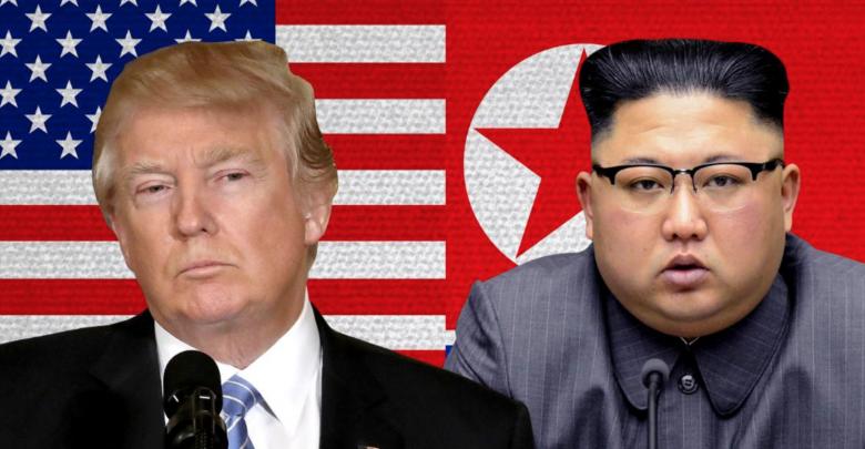 الرئيس الأميركي دونالد ترامب و الزعيم الكوري الشمالي كيم جونج أون