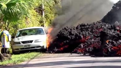صورة هاواي..انهار من الحمم وغضبُ الطبيعة في أوجهِ