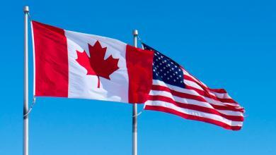 علم كندا والولايات المتحدة