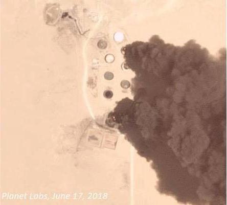 صورة جوية لأحداث الهلال النفطي