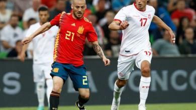 مباراة تونس وأسبانيا