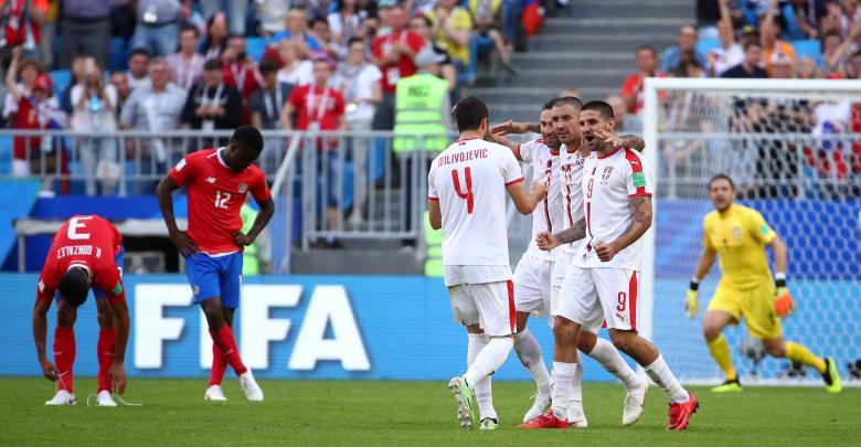 مباراة صربيا وكوستاريكا