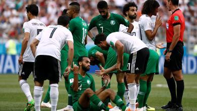 المنتخب السعودي ضد المنتخب المصري في مونديال روسيا 2018