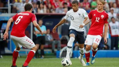 المنتخب الفرنسي ضد المنتخب الدنماركي بمونديال روسيا 2018