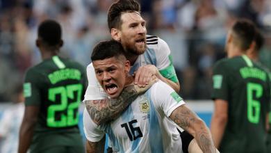 المنتخب الأرجنتيني ضد المنتخب النيجيري بمونديال روسيا 2018