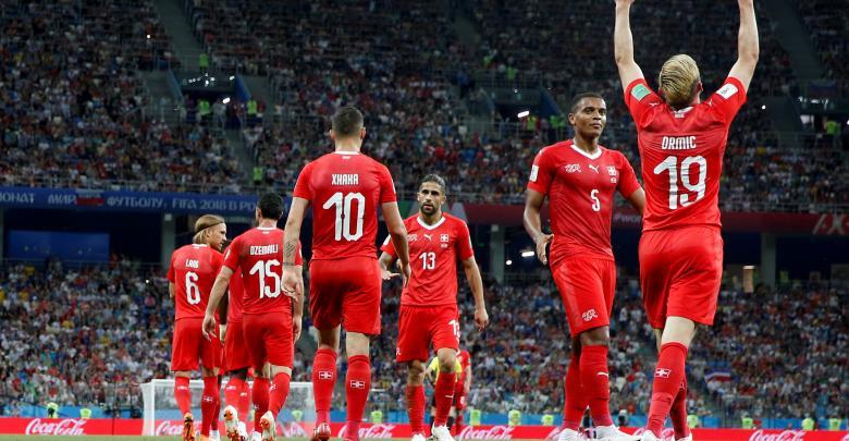 المنتخب الكوستاريكي ضد المنتخب السويسري بمونديال روسيا 2018