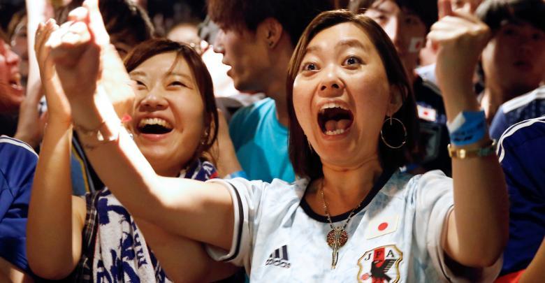 جمهور المنتخب الياباني بمونديال روسيا 2018