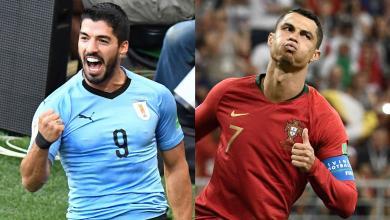 البرتغال في مواجهة الأوروغواي