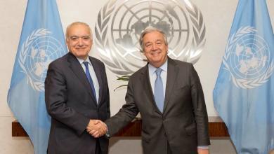 المبعوث الأممي إلى ليبيا غسان سلامة و الأمين العام للأمم المتحدة انطونيو غوتيريش
