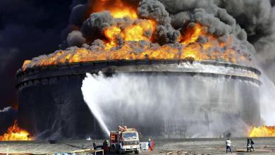 صورة الوطنية للنفط تتفقد آثار هجوم الجضران