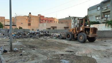 حملة تطوعية لإزالة القمامة في جميع مناطق بمدينة بنغازي