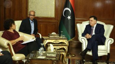 رئيس المجلس الرئاسي فائز السراج والسفيرة الفرنسية لدى ليبيا بريجيت كورمي