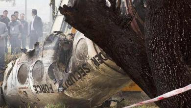 صورة سقوط طائرة مُحترقة فوق العاصمة الهندية