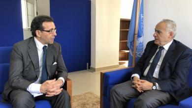 غسان سلامة وسفير إسبانيا لدى ليبيا فرنشيسكو دي ميغيل
