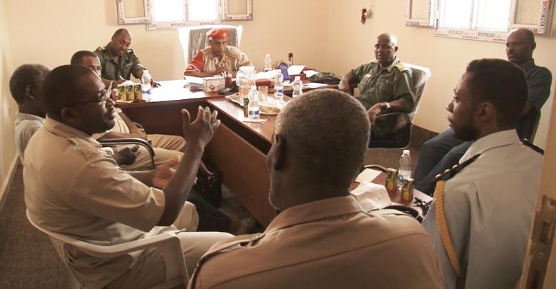 اجتماعا بمقر الشرطة العسكرية تراغن