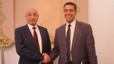 رئيس مجلس النواب عقيلة صالح، الأربعاء ورئيس المفوضية العليا للانتخابات عماد السايح
