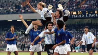 منتخبي الأرجنتين وإيطاليا 1990