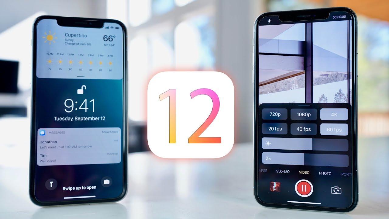نظام تشغيل جديد iOS 12