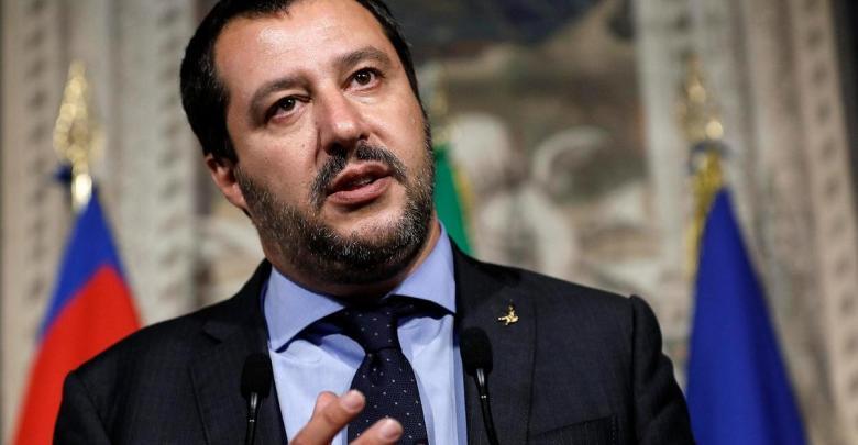 نائب رئيس الوزراء الإيطالي ووزير الداخلية ماتيو سالفيني