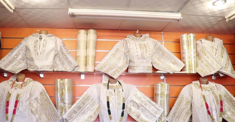 """صناعة اللباس التقليدي الليبي الخاص بـ""""الأعراس"""" بزليتن"""