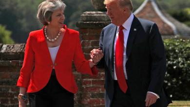 صورة ترامب ينصح ماي بمُقاضاة الاتحاد الأوروبي
