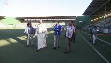 رئيس هيئة الشباب والرياضة بحكومة الوفاق الوطني زياد قريرة يتفقد المنشآت الرياضية في مدينة بنغازي
