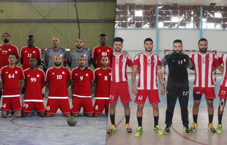 فريقي الأهلي بنغازي والاتحاد لكرة اليد
