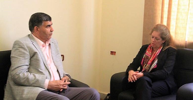 نائبة الممثل الخاص للشؤون السياسية ستيفاني وليامز ووزير الداخلية في حكومة الوفاق الوطني العميد عبدالسلام عاشور