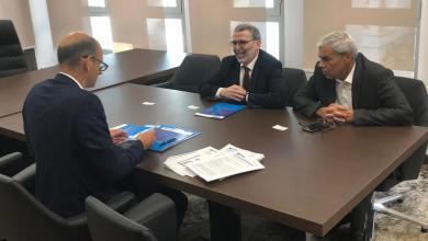 اجتماع مصطفى صنع الله وجونس موبيرج - مبادرة الشفافية