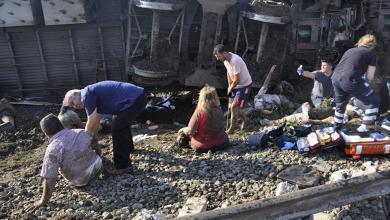 صورة مصرع وإصابة العشرات بحادث قطار تركي