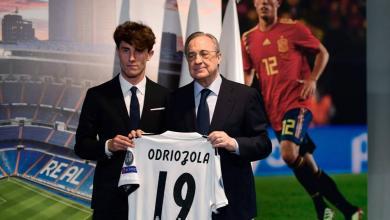 ريال مدريد لاعبه الجديد الإسباني ألفارو أودريوزولا