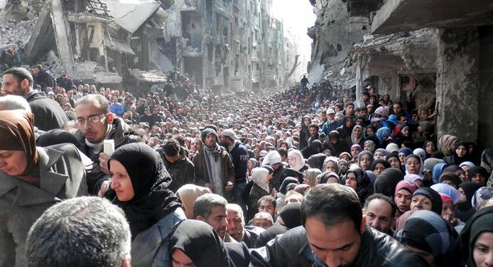 لاجئين سوريين - ارشيفية