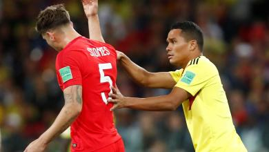 """صورة لاعب إنجليزي: منتخب كولومبيا""""أقذر فريق"""""""