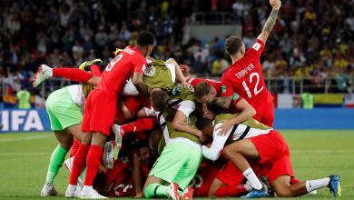 المنتخب الإنجليزي ضد المنتخب كولومبي بمونديال روسيا 2018